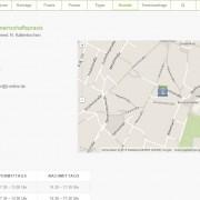 Website Gemeinschaftspraxis Krapf & Kaltenkirchen Anfahrt