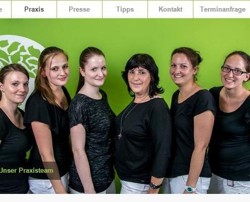 Website Gemeinschaftspraxis Krapf & Kaltenkirchen Mitarbeiterfotos