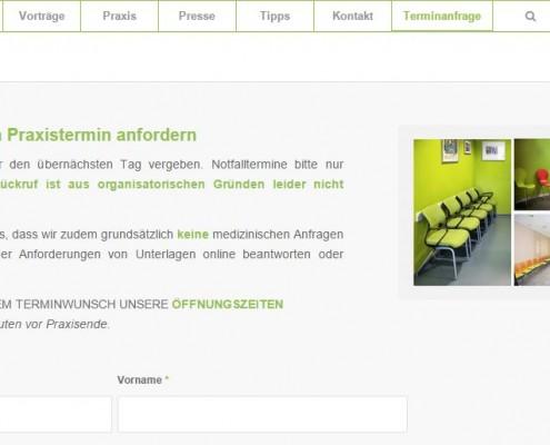 Website Gemeinschaftspraxis Krapf & Kaltenkirchen Terminanfragen