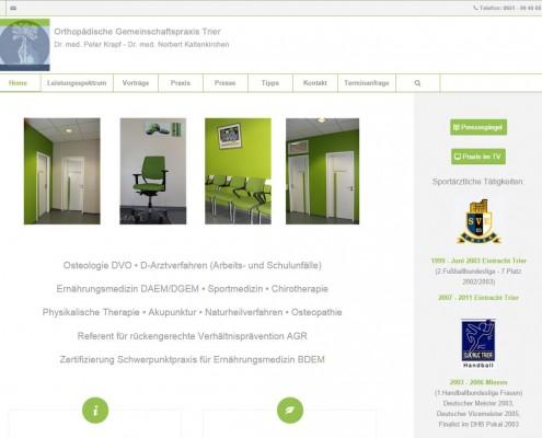 Website Gemeinschaftspraxis Krapf & Kaltenkirchen