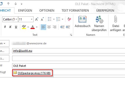 E-Mail attachement