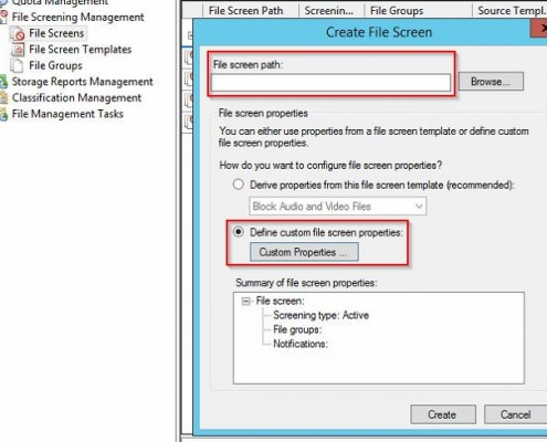 Ressource Manager Dateigruppe