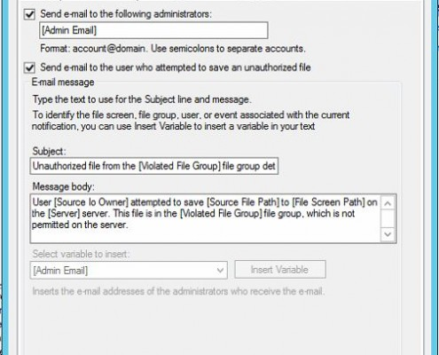 Ressource Manager Mail-Settings