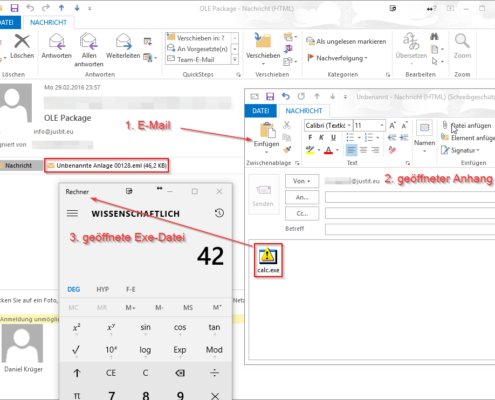 MSG E-Mail send